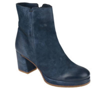 Ankle Boots, Leder, Blockabsatz, Plateau