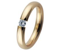 Spannring Gold 585 mit Diamant