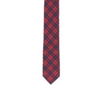 Krawatte, kariert, reine Seide
