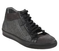 Sneaker, Leder, Textil-Musterung