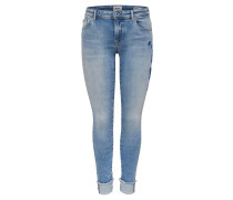 "Jeans ""Carmen Reg"", Skinny Fit, Stickerei, Umschlag"