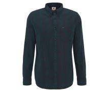 Hemd, Regular Fit, Button-Down-Kragen, Brusttasche, Grün