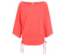 Strand-Shirt, seitliche Raffungen, UV-Schützend, für Damen, Rot
