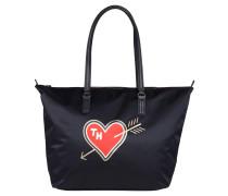 """Shopper """"Poppy Tote Heart Print"""", Nylon, Blau"""