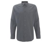 Freizeithemd, Modern Fit, Button-Down-Kragen, Brusttasche, Grau