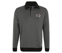 Sweatshirt, Polokragen, Rippbündchen, Grau