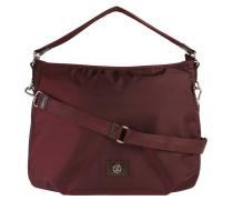 """Handtasche """"Elba"""", Emblem, Reißverschluss, Rot"""