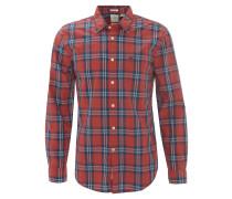 Freizeithemd, Karo-Muster, Kent-Kragen, Rot