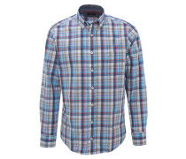 Freizeithemd, Casual Fit, Baumwolle, Button-Down-Kragen, Karo
