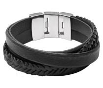 Armband Vintage Casual, Leder, schwarz, JF02079040