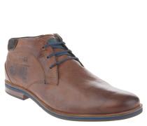 Desert Boots, Leder, Logo-Prägung, Braun