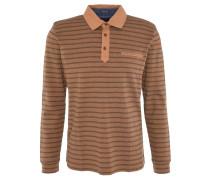 Poloshirt, gestreift, Langarm, Baumwolle, Gelb