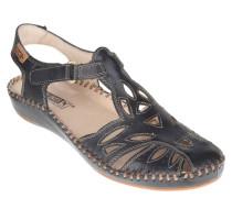 Sandalen, Leder, Klettverschluss, Blau