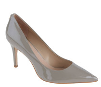 Pumps, Lack-Optik, spitz, Beige