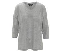 Shirt, 3/4-Arm, Melange, V-Ausschnitt