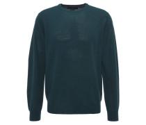 Pullover, uni, Rundhalsausschnitt, Wolle, Grün