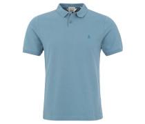 Poloshirt, Slim Fit, Piqué, Logo-Stickerei, Blau