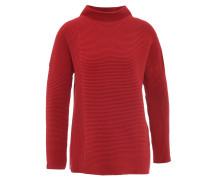 Pullover, Grobstrick, Streifen-Struktur, Rot