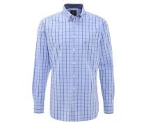 Hemd, kariert, Button-Down-Kragen, Brusttasche, Blau