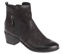 Ankle Boots, Leder, Reißverschluss, Absatz, Schwarz