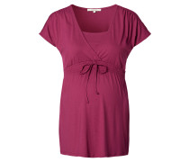 """Still-T-Shirt """"Jane"""", Raffungen, Rot"""