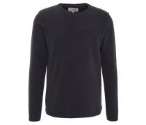 Sweatshirt, uni, Brusttasche, Baumwolle, Blau