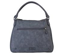 """Handtasche """"Grazia"""", Lederimitat, Struktur, Blau"""