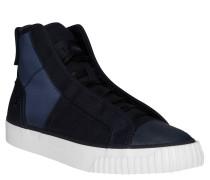 "Sneaker ""Scuba"", Denim-Optik, verdeckte Schnürösen, Blau"