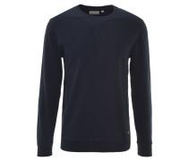 Sweatshirt, leichter Baumwoll-Mix, Bündchen, Blau