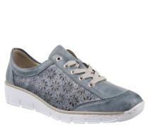Sneaker, floral ausgestanzt, Leder-Imitat