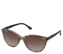 Sonnenbrille, oval, Streifen-Muster