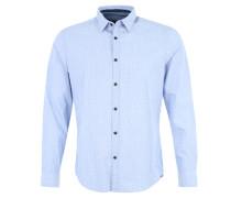 Freizeithemd, Slim Fit, Print, Baumwolle, Blau