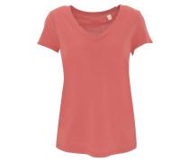 T-Shirt, meliert, V-Ausschnitt, Jersey