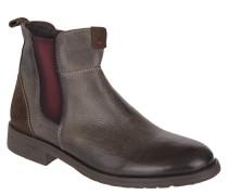 Chelsea Boots, Leder, Reißverschluss, Profilsohle, Braun