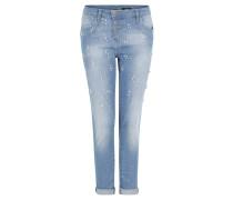 "Jeans ""P78"", Boyfriend Fit, Perlen-Besatz"