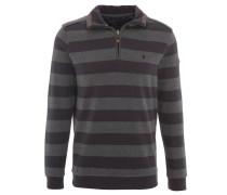 Sweatshirt, Baumwolle, Reißverschluss, Streifenmuster, Blau