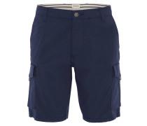 Bermuda, Tapered Fit, schmales Bein, Cargotaschen, Blau