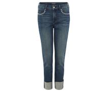 """Jeans """"Alina Ankle"""", 3/4-Länge, verzierte Taschen, Blau"""