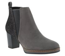 Ankle-Boots, Animal-Print, raffinierter Stretch-Einsatz, Grau