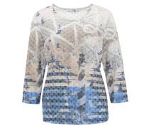 Shirt, 3/4-Arm, Nieten, maritimer Look, Blau