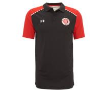 Poloshirt, FC St. Pauli, für Herren, Schwarz