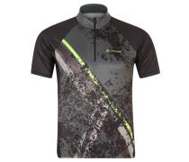 Fahrrad-Shirt, Frontprint, Stecktaschen, LSF 25, für Herren, Schwarz