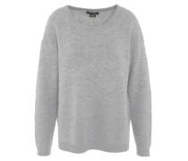 Pullover, Metallic-Fasern, Wolle-Anteil, Bündchen, Grau