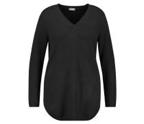 Long-Pullover, V-Ausschnitt, Große Größen