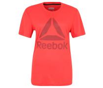 Fitness-Shirt, schnelltrocknend, Flachnähte, für Damen, Rot