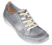 Sneaker, Leder, Wechselfußbett, Blau