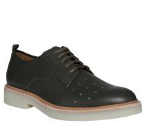 "Business-Schuhe ""Core Corset"", Loch-Muster, Gummi-Sohle, Oliv"