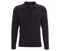 Poloshirt, Pima-Baumwolle, aufgesetzte Brusttasche, Schwarz