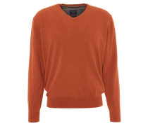 Pullover, V-Ausschnitt, Orange
