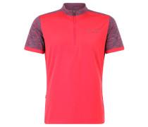 Fahrrad-Shirt, Stehkragen, reflektierende Elemente, Rot